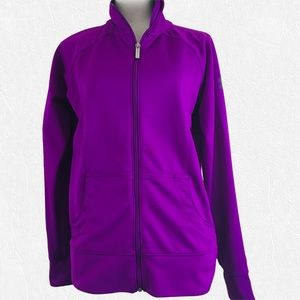 Under Armour Semi Fitted Purple Zip Up Jacket